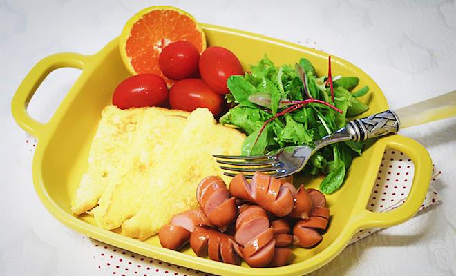 거르기 쉬운 아침식사 해결! 초간단 든든 아침, 토스트 햄 샐러드 & 볶음밥 그라탕