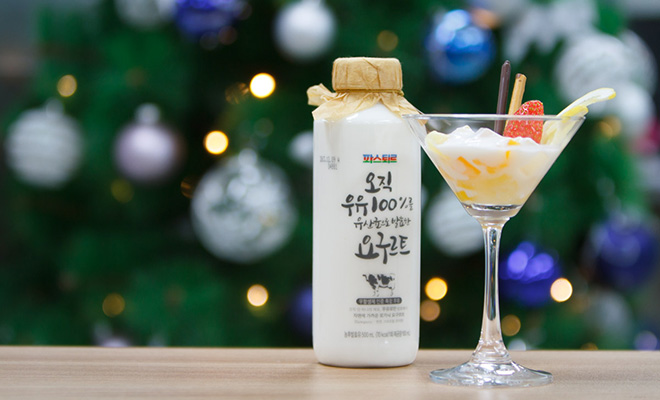 첨가물 없는 100% 순수한 맛! 파스퇴르 '오직 우유 100%를 유산균으로 발효한 요구르트'